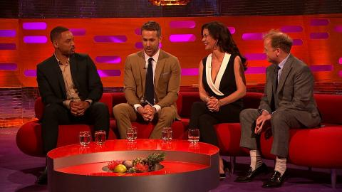 Ryan Reynolds gives the show a movie trailer voiceover - The Graham Norton Show: Series 18