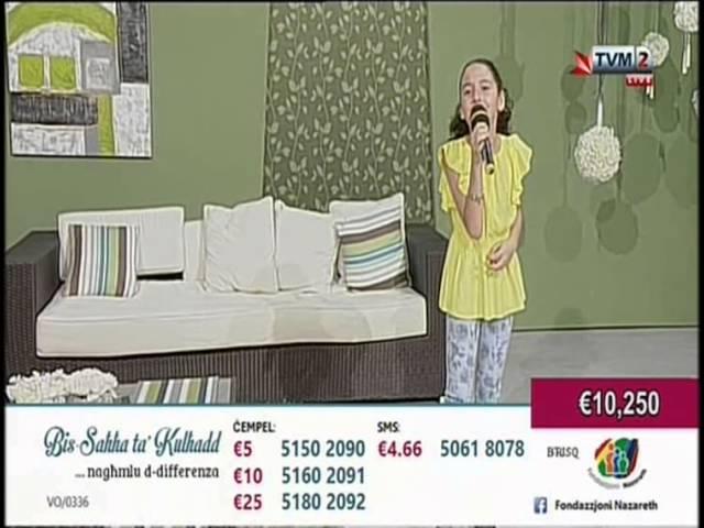 Veronica Rotin - Perdere L'Amore - Maratona Fondazzjoni Nazareth 2014