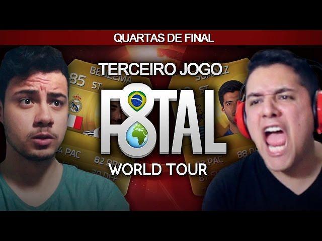 FIFA 15 - 3º JOGO QUARTAS DE FINAIS - FREDVASQUEZ - F8TAL WORLD TOUR #06 2/2 [Xbox One]
