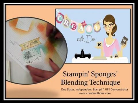 Stampin' Sponges Blending Technique - 2 Looks!