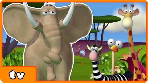 Funny Animals Cartoons Collection | Storm on the Savannah | For Babies by HooplakidzTv