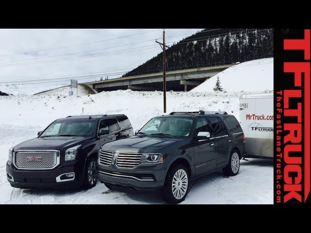 2015 Lincoln Navigator vs GMC Yukon vs the Ike Gauntlet Towing Test Preview