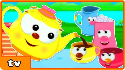 I'm A Little Teapot | Popular Nursery Rhyme With Lyrics And Action For Babies By HooplakidzTv