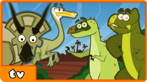 Dinosaurs Cartoons For Children To Learn & Enjoy | Learn Dinosaur Facts By HooplakidzTV
