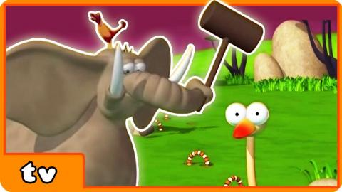 Funny Animals Cartoons Collection | Elephant Does Some Gardening | For Babies by HooplakidzTv