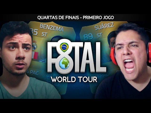 FIFA 15 - 1º JOGO QUARTAS DE FINAIS - FREDVASQUEZ - F8TAL WORLD TOUR #06 [Xbox One]