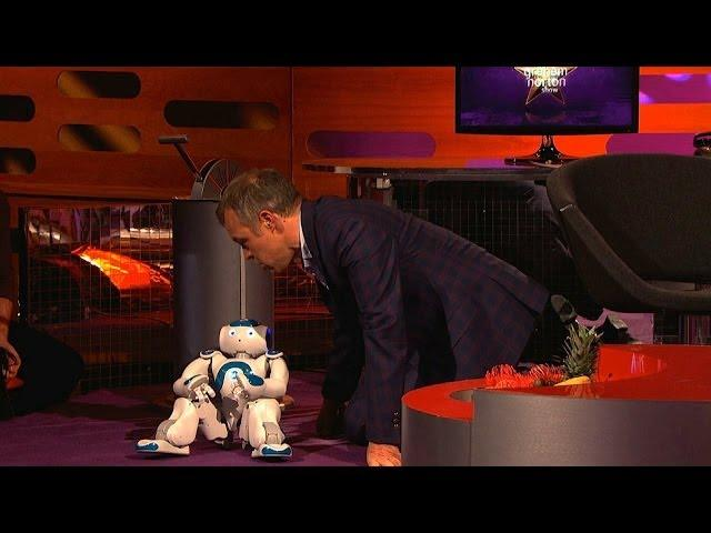 Graham plays with a toy robot - The Graham Norton Show: Episode 15 - BBC One