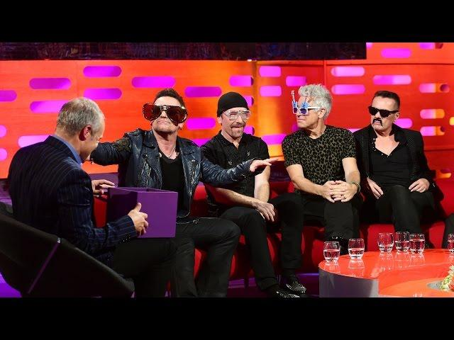 U2 try on some funny glasses – The Graham Norton Show: Series 16 Episode 4 – BBC One